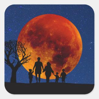 Blood Moon Lunar Eclipse Square Sticker
