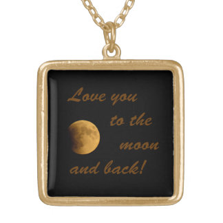 Blood Moon September 27, 2015 Gold Plated Necklace