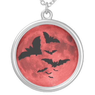 Blood Moon Silver Plated Necklace