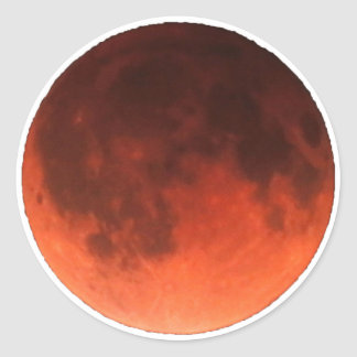 Blood Moon Tetrad Classic Round Sticker