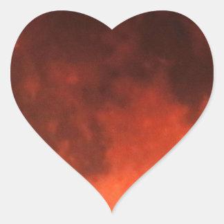 Blood Moon Tetrad Heart Sticker