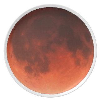 Blood Moon Tetrad Melamine Plate