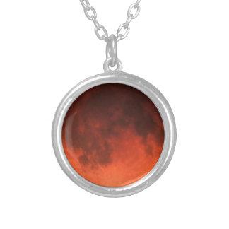 Blood Moon Tetrad Round Pendant Necklace