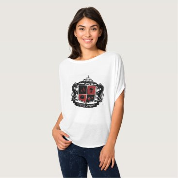 Halloween Themed Blood Moon University Crest Women's Top