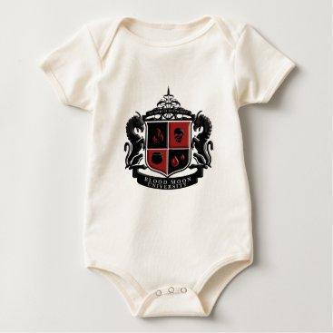 Halloween Themed Blood Moon University School Crest Baby Bodysuit