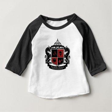 Halloween Themed Blood Moon University School Crest Baby T-Shirt