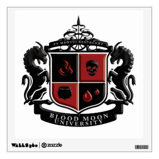 Blood Moon University School Crest Wall Decal