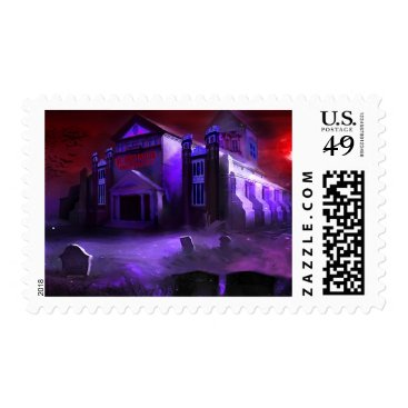 Halloween Themed Blood Moon University Stamps