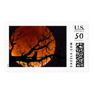 Blood Moon with Cat US Stamp