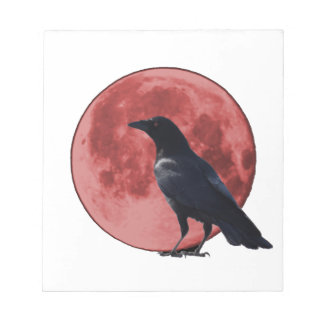 Blood Moon with Crow Note Pad