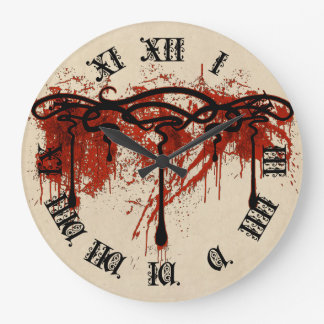 Blood Motif Large Clock