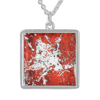 """Blood Negative"", Sterling Square Necklace"