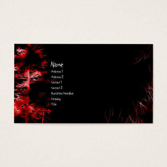 Blood Night Goth Business Card
