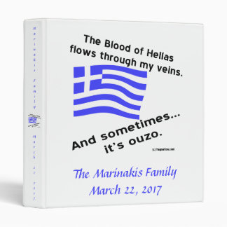 Blood of Hellas and Ouzo Name and Date Binder