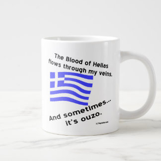 Blood of Hellas and Ouzo Right Giant Coffee Mug