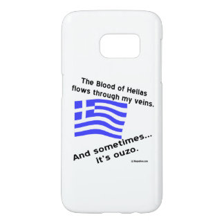 Blood of Hellas and Ouzo Samsung Galaxy S7 Case
