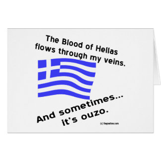 Blood of Hellas & Ouzo Card