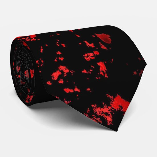 Blood of Horror Halloween tie
