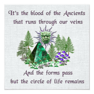 Blood Of The Ancients 5.25x5.25 Square Paper Invitation Card