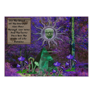 Blood of the Ancients 5x7 Paper Invitation Card