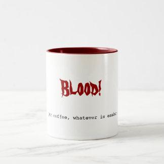 Blood!, (or coffee, whatever is easier) Two-Tone coffee mug