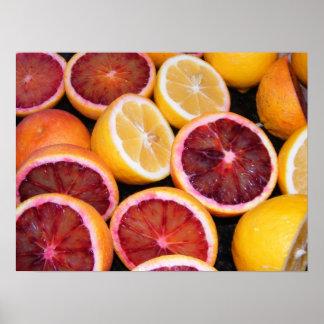 Blood Orange and Lemons Poster
