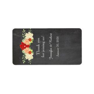 Blood Orange Chalkboard Wedding Lip Balm Label