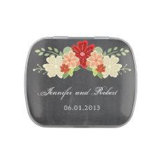 Blood Orange Flower Chalkboard Wedding Candy Tin at Zazzle
