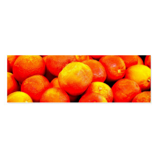 Blood Oranges Double-Sided Mini Business Cards (Pack Of 20)