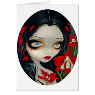 """Blood Orchid"" Greeting Card"