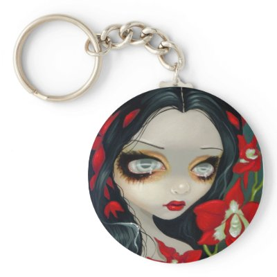 'Blood Orchid' Keychain $ 3.15