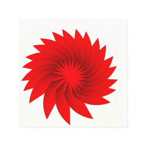 Blood Orchid Poster Canvas Print
