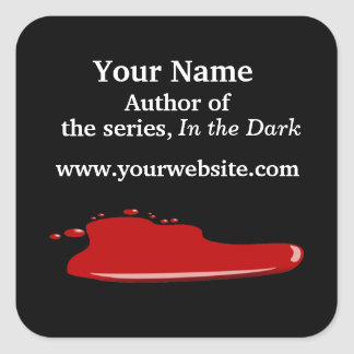 Blood Personalized Author Stickers Horror Thriller