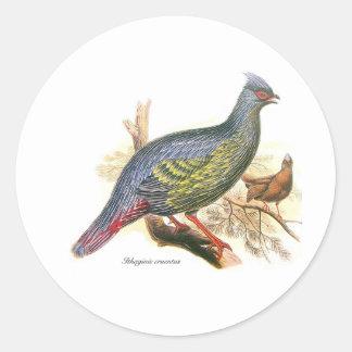 Blood Pheasant Classic Round Sticker