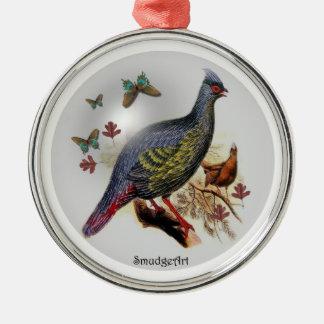 Blood Pheasant Metal Ornament