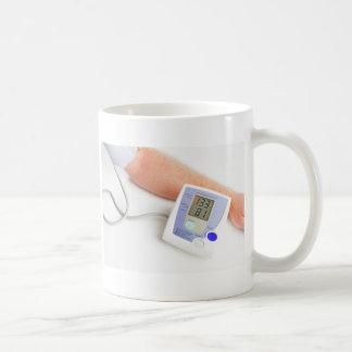 Blood pressure monitoring classic white coffee mug