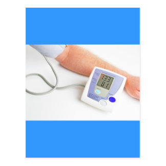 Blood pressure monitoring postcard