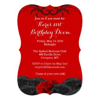 Blood Red 21st Birthday Doom Invitation