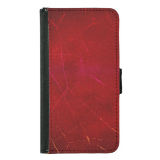 Blood Red Abstract Texture with Scratches Wallet Phone Case For Samsung Galaxy S5
