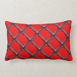 Blood Red Base: Rope Embroidary Look Throw Pillow
