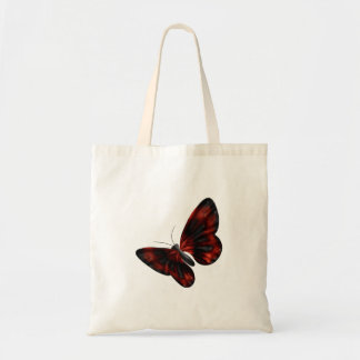 Blood Red & Black Winged Butterfly Flying Canvas Bags