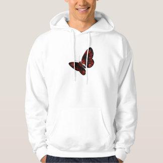 Blood Red & Black Winged Butterfly Flying Hoodie