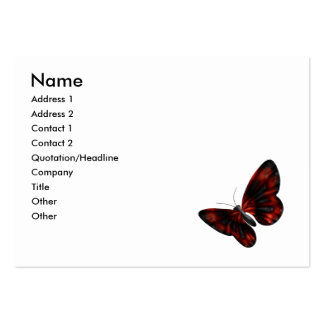 Blood Red & Black Winged Butterfly Flying Large Business Card
