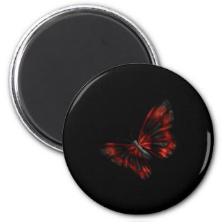 Blood Red & Black Winged Butterfly Flying Magnet