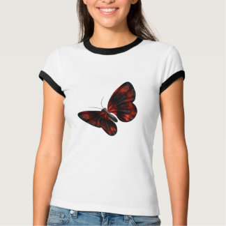 Blood Red & Black Winged Butterfly Flying Shirts