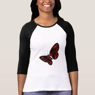 Blood Red & Black Winged Butterfly Flying T Shirt