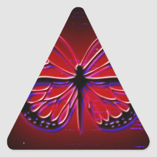 Blood Red Butterfly Triangle Sticker