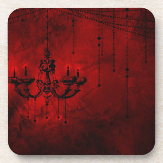 Blood Red Chandelier Vampire Dark Red Black Drink Coaster