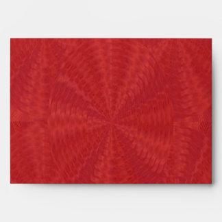 Blood Red Floral Waves - Graphic Design Envelope
