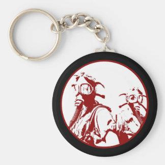 Blood Red Gas Mask Girls Basic Round Button Keychain